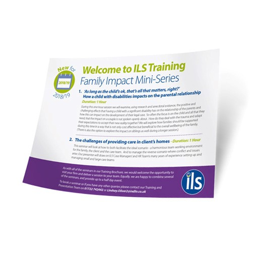 New 2018/19 CPD Training for Legal Professionals: Family Impact Mini Series